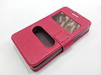 Чехол книжка с окошками momax для Sony Xperia E1 d2005 / E1 dual d2105 розовый