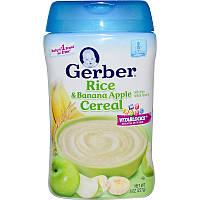 Gerber рисовая каша с бананом и яблоком 8 унций