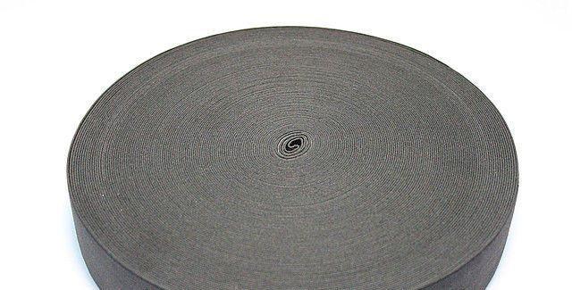 Резинка ПЭ черная 20мм 25м