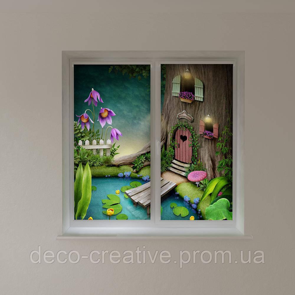 Рулонные шторы для детской сказочный городок