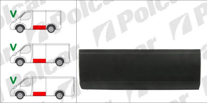 Обшивка боковины L для MB Sprinter