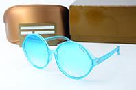 Солнцезащитные очки Gucci круглые голубые, фото 1