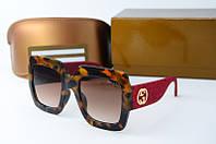 Солнцезащитные очки Gucci квадратные лео, фото 1
