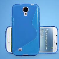 Силиконовый чехол голубой для Samsung Galaxy S4 I9500, фото 1