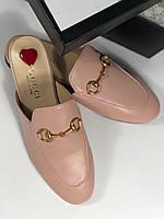 Модные мюли Gucci 'Princetown' с пряжкой-трензелем (реплика), фото 1