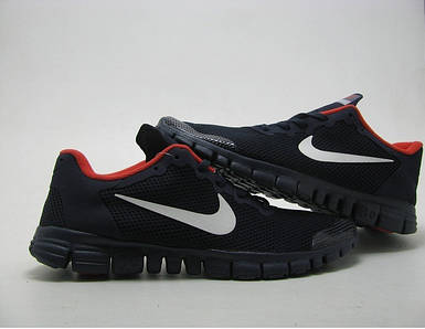 Мужские кроссовки Nike Free.Темно синие.Текстиль