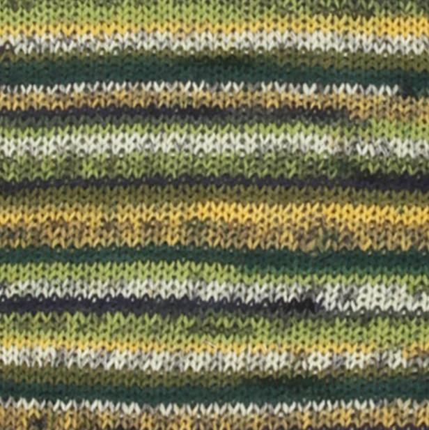 Пряжа носочная DROPS Fabel, цвет 542 Green Print