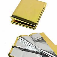 Спасательное покрывало золото/серебро , размер 160 Х 210 см , Польша, фото 1