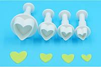 Плунжер для мастики Сердечки 4 шт