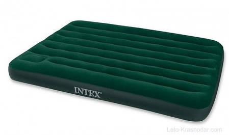 Двуспальный надувной матрас Intex 66929 (152х203х22 см.) с насосом, фото 2
