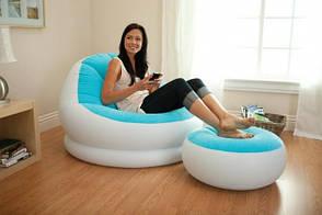 Надувное кресло Intex Cafe Chaise Chair 68572 Голубое (104x109x71 см.), фото 2