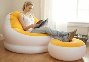 Надувное кресло Intex Cafe Chaise Chair 68572 Голубое (104x109x71 см.), фото 3