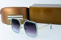 Солнцезащитные очки Gucci квадратные синие, фото 1