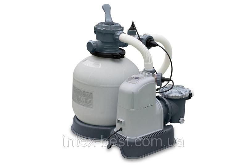 Песочный фильтрующий насос с хлорогенератором, Intex 28682 (56682)28680