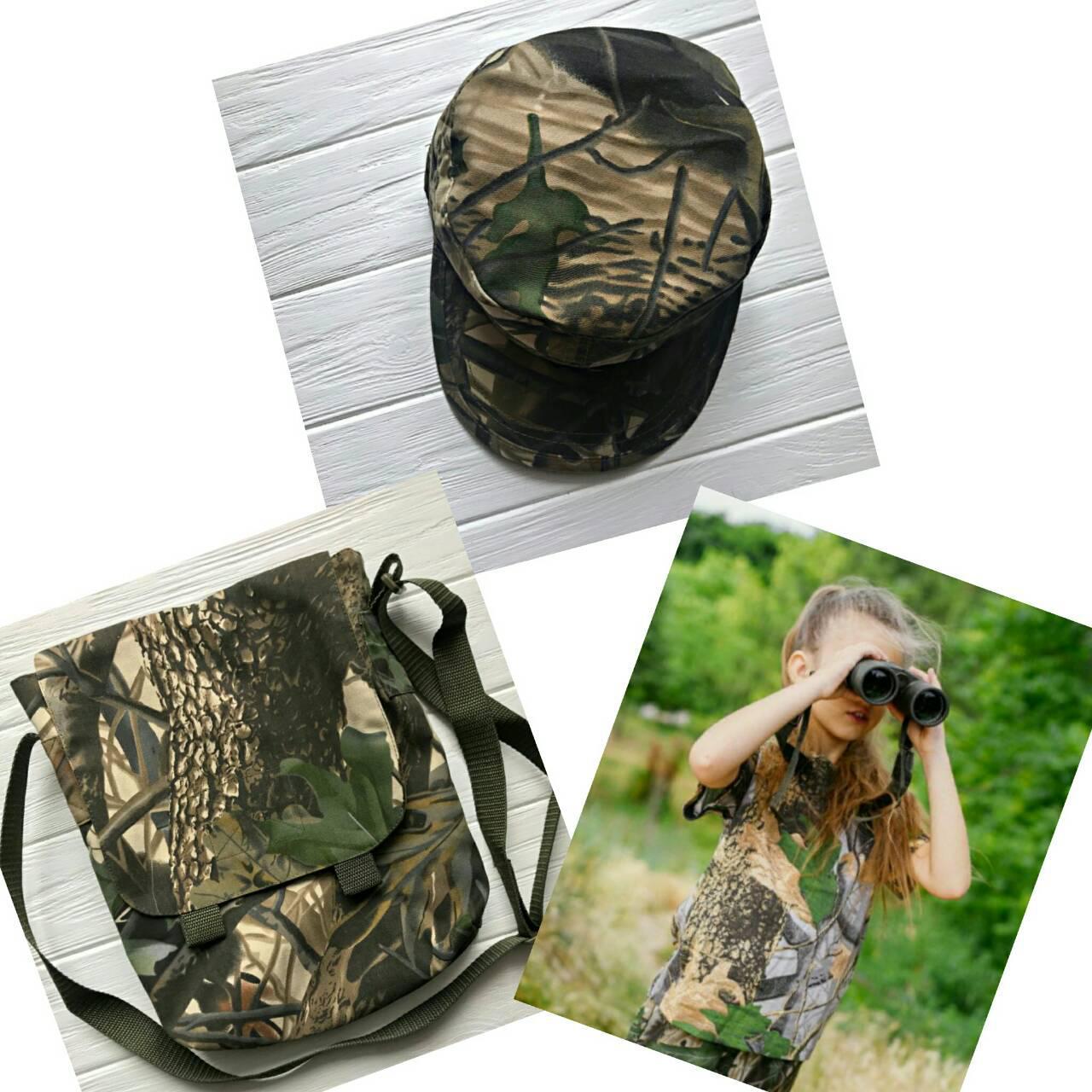 Комплект  футболка сумка кепка камуфляж Дубок