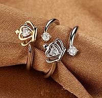 Кольцо Корона, покрытие серебро 925 пробы