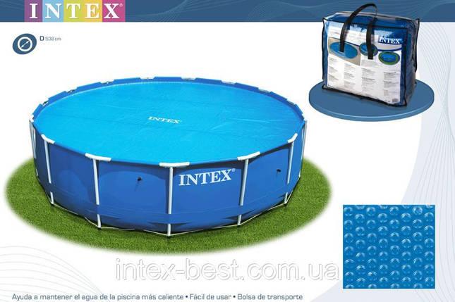 Тент для бассейна с эффектом антиохлаждение Intex 29025 (59955) до 549 см., фото 2