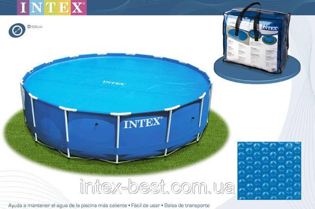 Тент для бассейна с эффектом антиохлаждение Intex 29022 (59953) до 366 см., фото 2