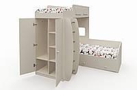 """Многофункциональная двухъярусная кровать """"Баффи"""" Бежевая"""