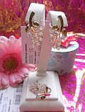 Серебряный гарнитур с золотыми пластинами Нектар, фото 3
