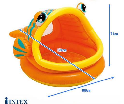 """Детский надувной бассейн """"Рыбка"""" с навесом Intex 57109, фото 2"""