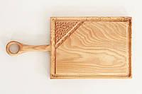 Доска разделочная квадратная из дуба, фото 1
