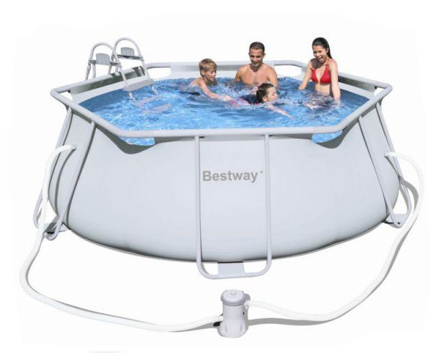 Каркасный бассейн Bestway 356x102 см + Лестница (56245)