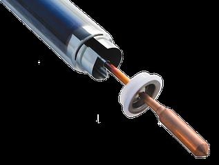 Вакуумная трубка Heat pipe Ø58*1800 мм. Конд. Ø14 мм. (работа под давлением)