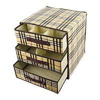 Тканевая тумбочка для белья с 3 выдвижными ящиками Burberry, фото 1