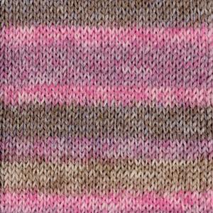 Носочная пряжа DROPS Fabel, цвет 655 Wooden Rose Long Print