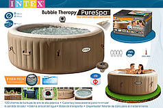 Надувная джакузи PureSpa Bubble Therapy+Hard Water System intex 28404(145/196Х71СМ)