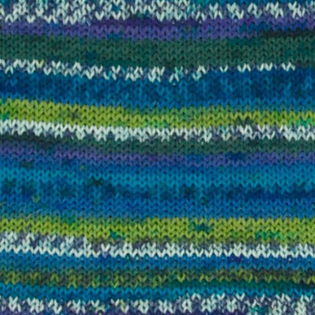 Носочная пряжа DROPS Fabel, цвет 677 Green/Turquoise Print