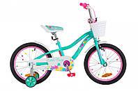 """Велосипед детский Formula Alicia 18"""" бирюзовый"""