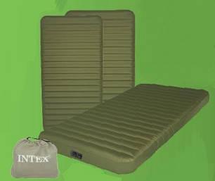 Надувной матрас Intex 68727 - 99x191x20 см. Встроенный электрический аккумуляторный насосо USB/12В, фото 2