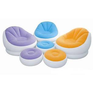 Надувное кресло Intex Cafe Chaise Chair 68572 Желтое (104x109x71 см.), фото 2