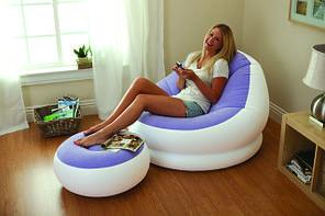 Надувное кресло Intex Cafe Chaise Chair 68572 Желтое (104x109x71 см.), фото 3