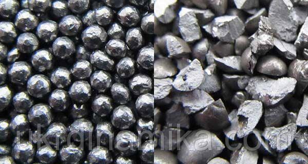 Дробь стальная литая ГОСТ 11964-81 диаметр 2.2