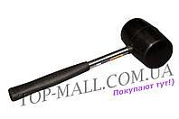 Киянка Mastertool - 450 г х 60 мм, черная резина, ручка металл