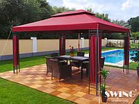 Палатка альтанка садовая Milano 3 x 4 м красний, фото 1