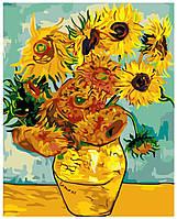 Картина раскраска по номерам на холсте 40*50см Babylon MS427/КН098 Подсолнухи, Ван Гог, MG098