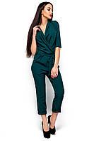 Комбинезон женский брючный темно-зеленый, фото 1
