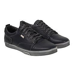Туфли мужские Konors (черные, на шнурках, удобные, молодежные)