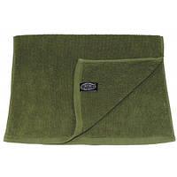Полотенце махровое 50x30см тёмно-зелёное