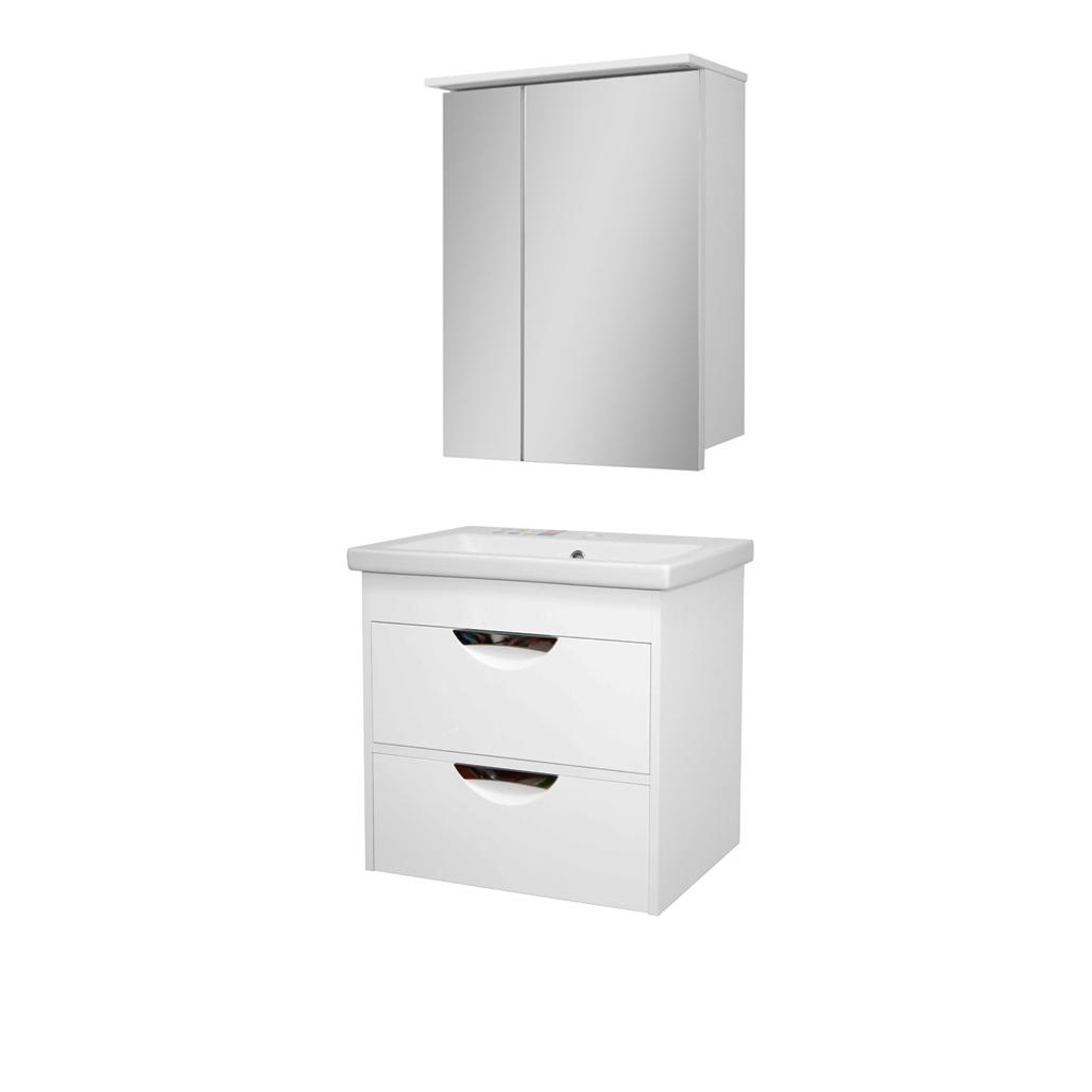 Комплект мебели для ванной комнаты Альвеус Т-80-30К-ЗШ-80-05 с зеркалом ПИК