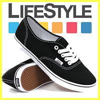 Новые стильные кеды Vans (Ванс, Вансы) Authentic. Разные цвета! Черно-белые