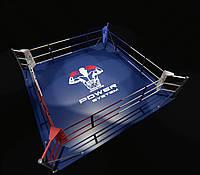 Боксерский ринг напольный, тренировочный 5,5х5,5 метра, ринг для бокса, фото 1