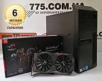 Игровой компьютер Intel Core i5-2500, RAM 8ГБ, SSD 240ГБ, Radeon RX570 4GB, гарантия на ПК, фото 1