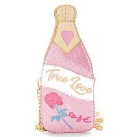"Розовая сумка в виде бутылки шампанского ""True love"", фото 1"