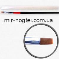 Кисти для геля №8, красно-черная ручка