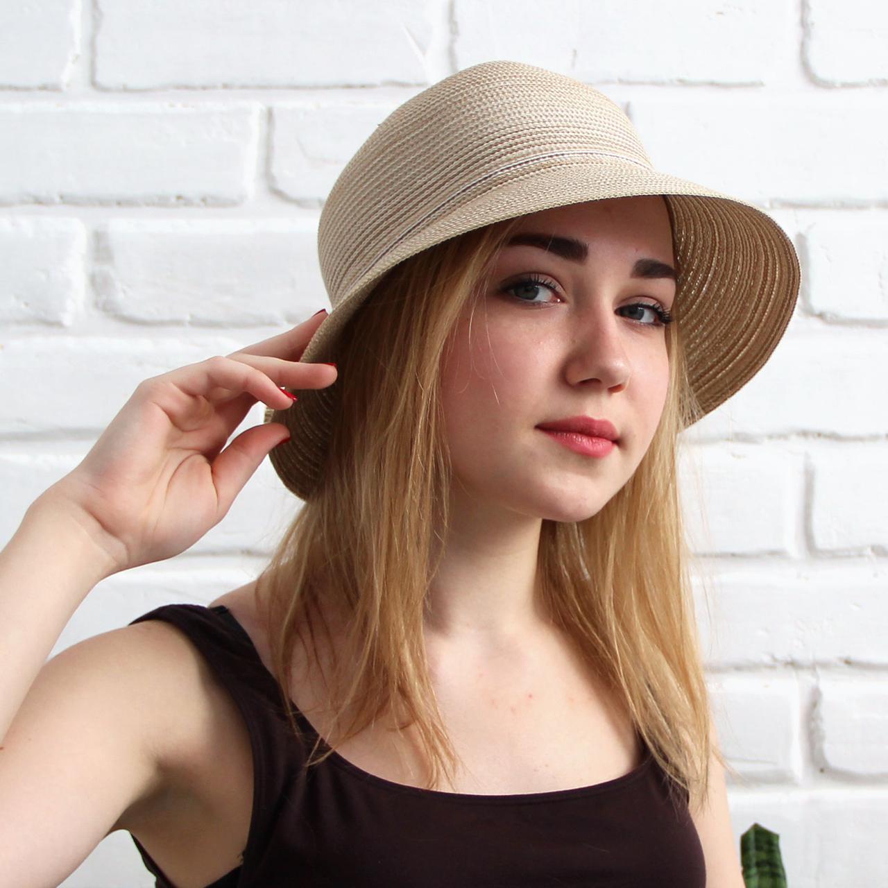 Женская летняя шляпа, капучино